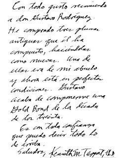 fuente manuscrita: