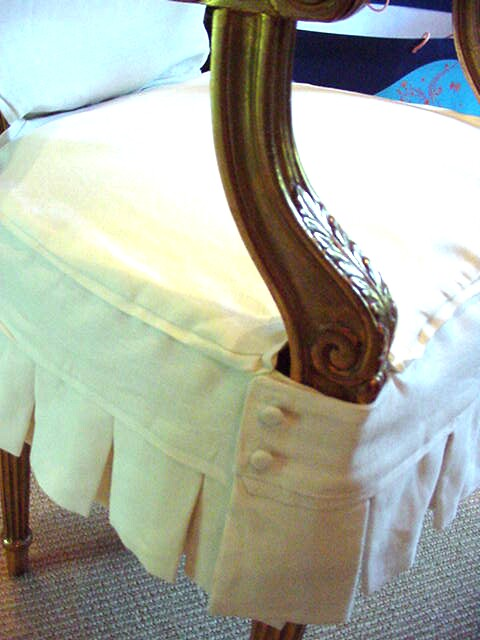 Look, Ma! I'm Sewing Slipcovers: Monogrammed dining chairs in ...