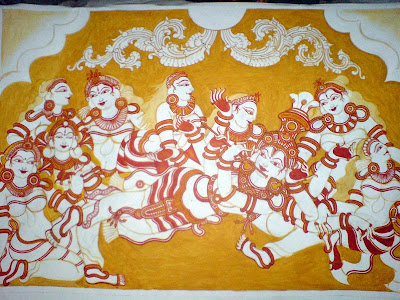 Celebrations decor an indian decor blog making of a for Ananthasayanam mural painting