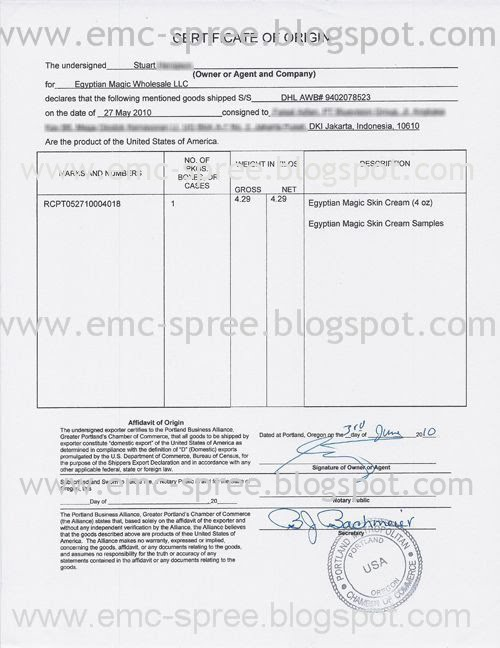 Doc537710 Usa Certificate of Origin Assurance Certificate of – Generic Certificate of Origin