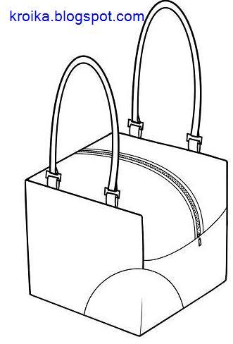 Выкройки сумок.  Выкройка Сумки-Кубика.