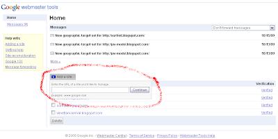Meta Tag: Google Webmasters Tool