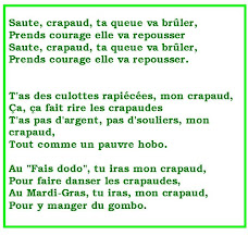 Saute Crapaud, The Musical