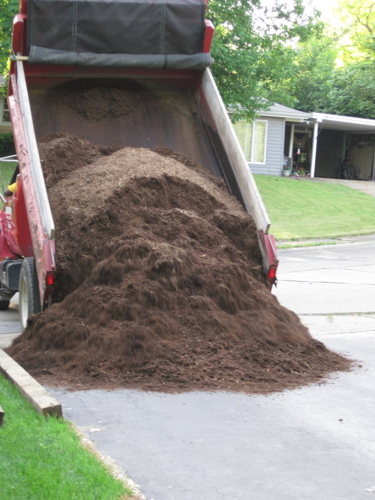Happily Single: Do You Know What 6 Yards of Mulch Looks Like?