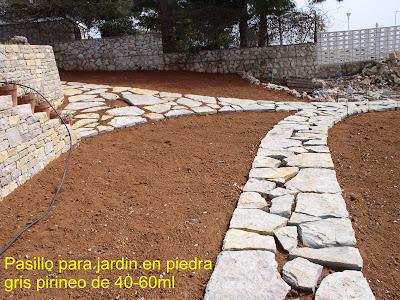 Piedramaestrazgo piedra gris pirineo 40 60 huella jardin for Jardines en piedra natural