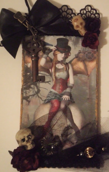 Steampunk Fairy Vintage TAG