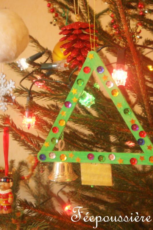 Sapin de Noël en bâtonnets