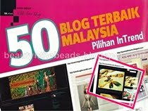 Ƹ̵̡Ӝ̵̨̄Ʒ 1 OF 50 BEST BLOGS IN M'SIA RANKED BY INTRENDƸ̵̡Ӝ̵̨̄Ʒ