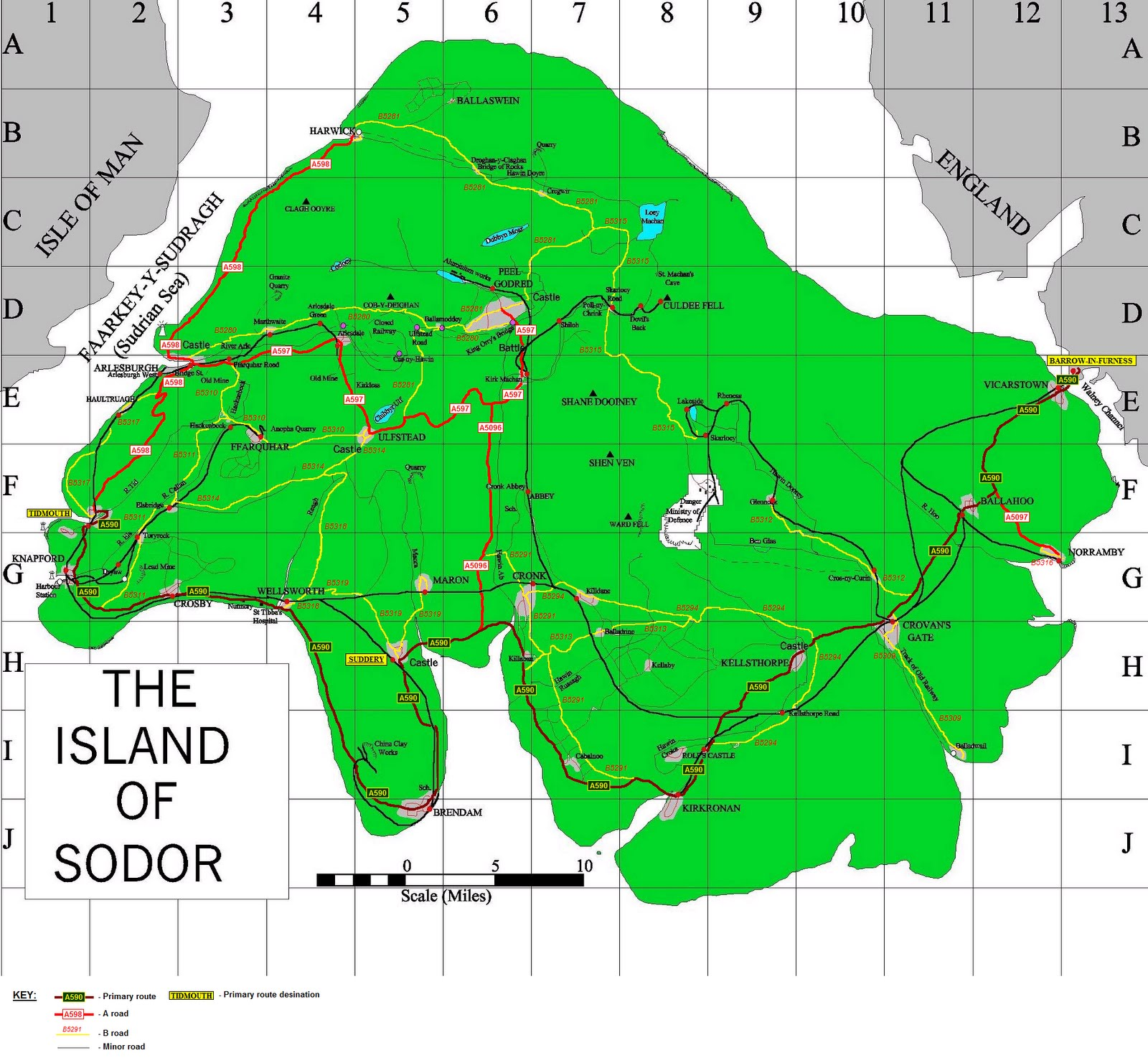road and rail map of sodor my own intepretation