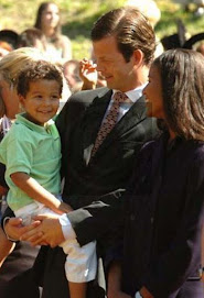 Prince Maximillian and Princess Angela with little max,  heir to the throne....