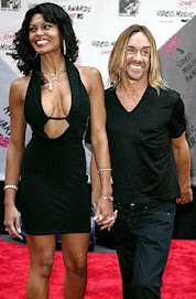 Legendary Iggy Pop and his beautiful lady....