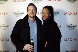 Michelle (destiny's child) with fiance..