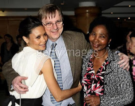 Thandie with her mom and dad