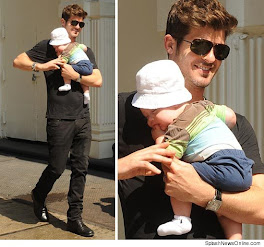 Robin Thicke and brand new baby Julien