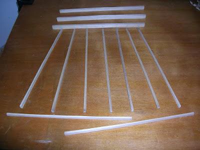 Paulownia fan braces prepared
