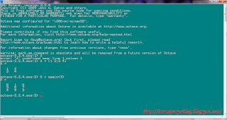 Tampilan GNU Octave, yang full CLI.