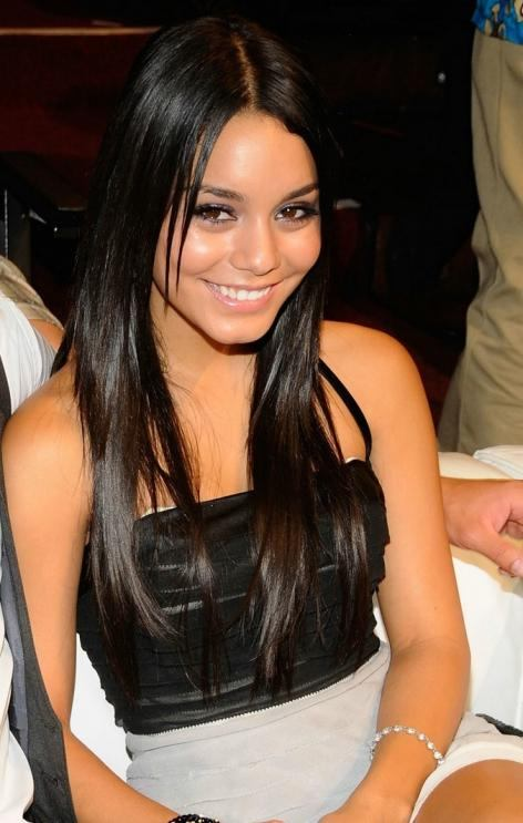 vanessa hudgens straight hair