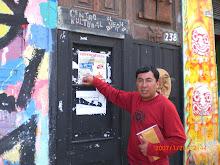 """El Director, tocando las puertas del """"Averno"""", Lima."""
