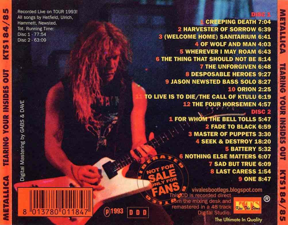 metallica live seattle 1989 setlist