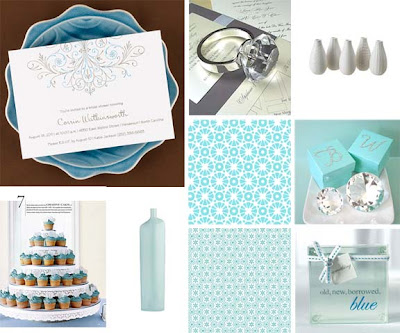 always carry on the something blue tradition in your bridal shower