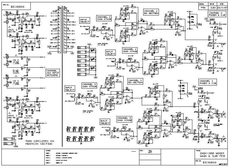 behringer mixer schematic