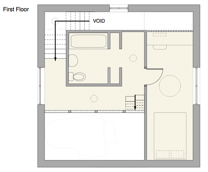 Jen eliza designs final cube house plans and sections for Www house plans com