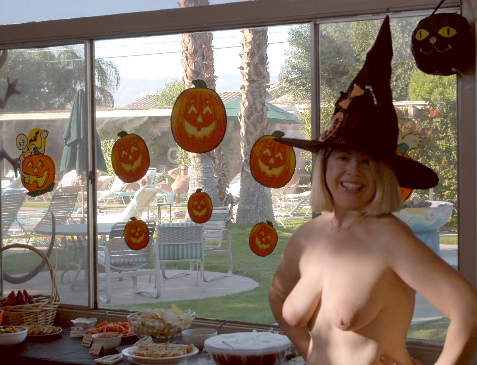 Palm Springs, California is Nude Halloween Party central.