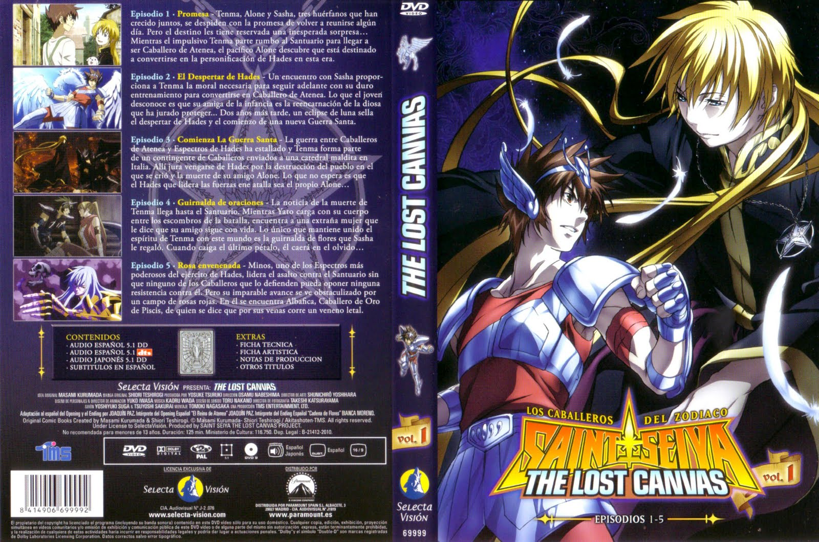 Saint Seiya The Lost Canvas - Carátulas [5/6]