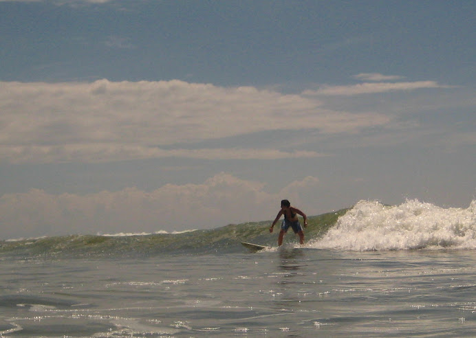 Attempting backside in Dominical