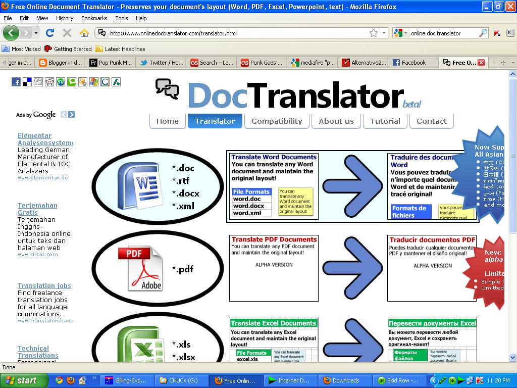 how to translate pdf online