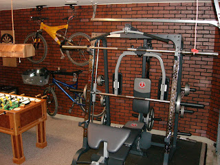 Cool garage ideas lighting remodeling: garage workout room ideas