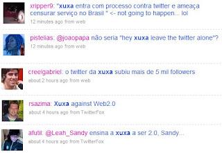Tuitadas sobre a Xuxa