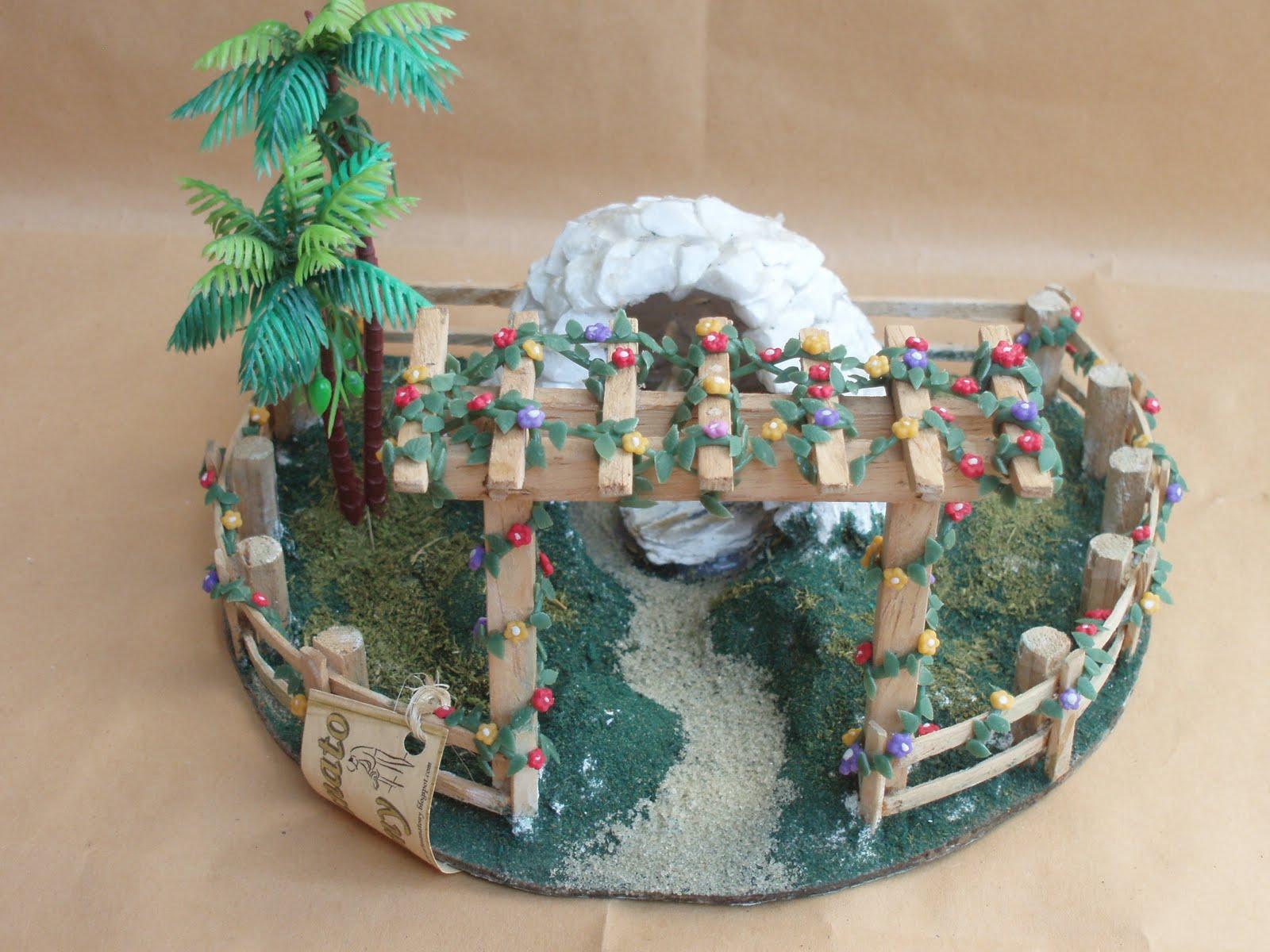 gruta de pedra para jardim : gruta de pedra para jardim:Gruta de Pedra Branca Modelo numero II Com Santa em Pedra Vinda de
