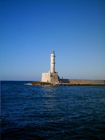 Faro del puerto de Xania (Creta)