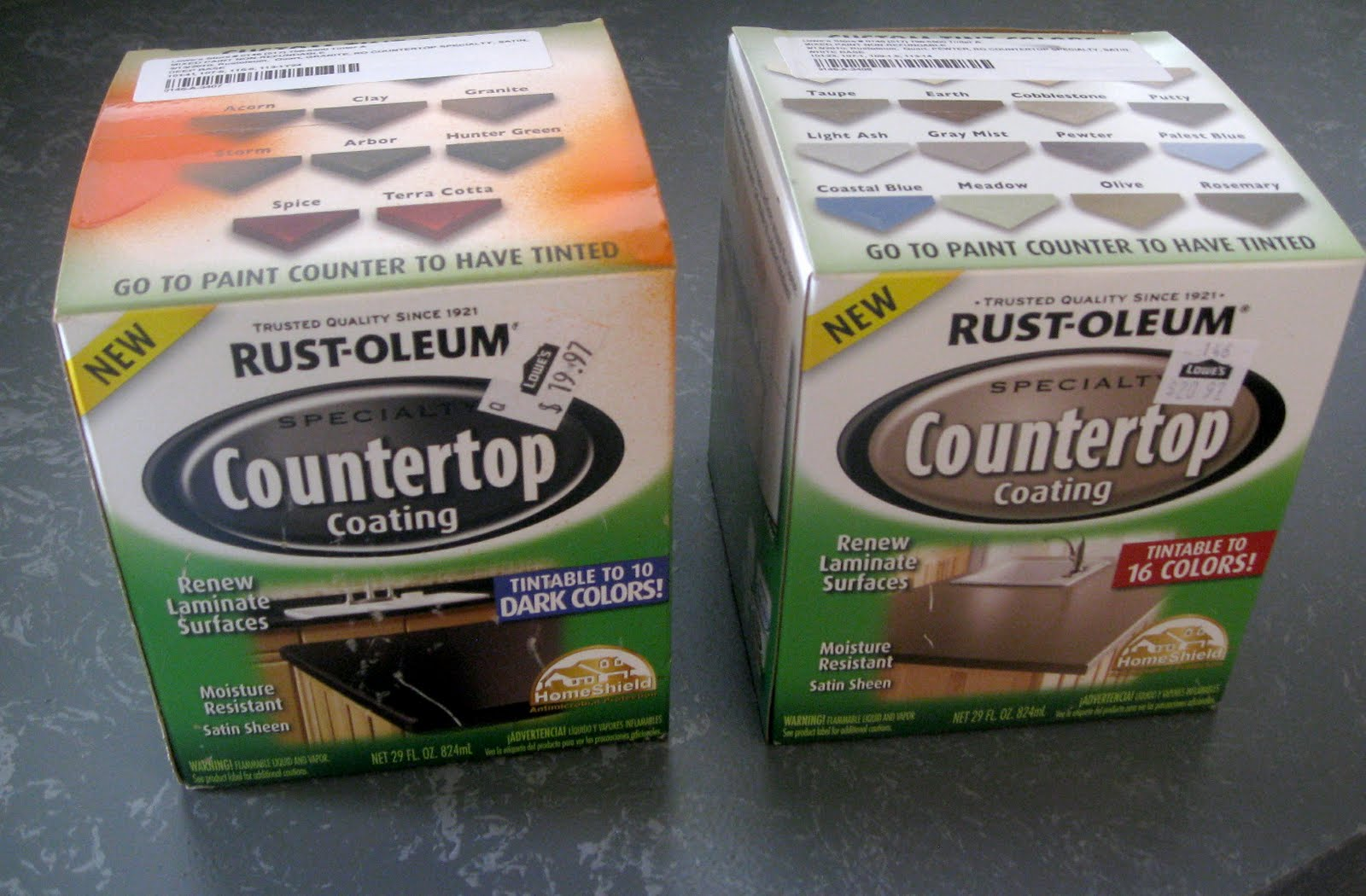 countertop paint colorsKammys Korner Painted Kitchen Counter Tops