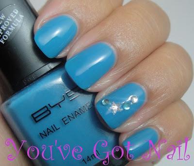 you've got nail bys  blue bang  nailene rhinestone