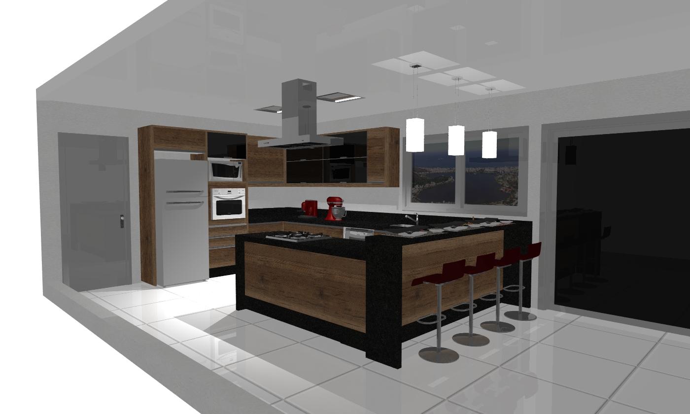 Design de interiores Móveis planejados & Afins: COZINHA CASA  #5B4637 1400 840