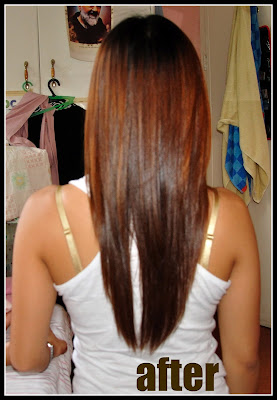 Before and After Hair Rebonding