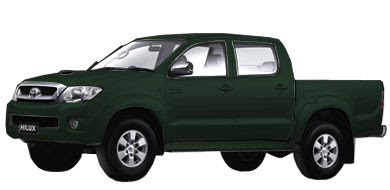 Pilihan Warna Toyota New Hilux - Dark Green Metallic