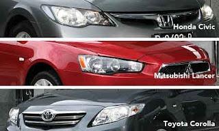 Lancer vs Civic vs Corolla
