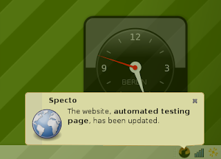 Monitor Web page changes with Specto