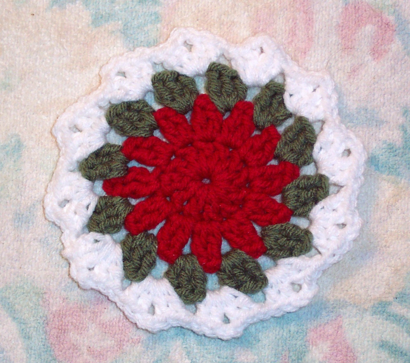 Free Crochet Santa Claus Coaster Pattern : SmoothFox Crochet and Knit: SmoothFoxs Holiday Coaster ...