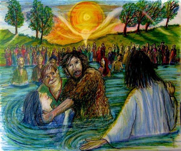 Art John the Baptist Baptizes Jesus