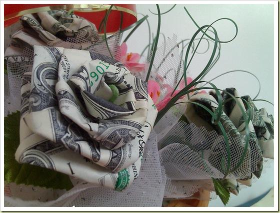 Money Origami Flower Bouquet