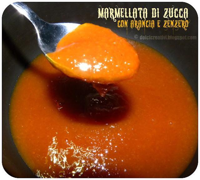 Marmellata zucca arancia e zenzero