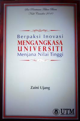 Diskusi Buku: Berpaksi Inovasi, Mengangkasa Universiti, Menjana Nilai Tinggi
