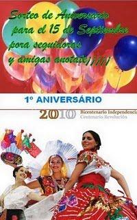 SORTEO POR EL 1ER.ANIVERSARIO DEL BLOG. DE ELO.