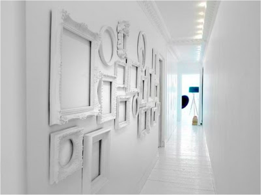 now you have easily and inexpensively added dimension and art to your empty wall