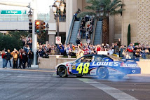 Johnson Doing Burn-Outs on Las Vegas Strip