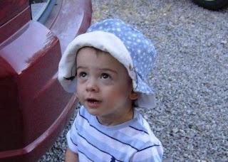 cucito creativo cappellino bimbo reversibile bambino